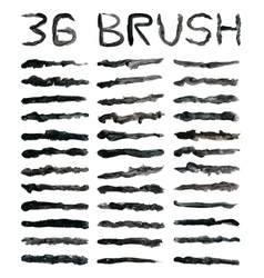 Black dirty brushes vector