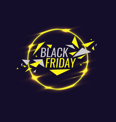 Black friday banner original poster for discount vector