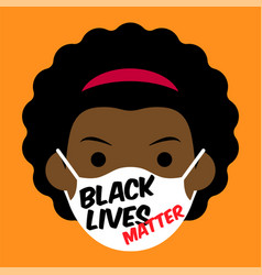 Black lives matter cartoon vector