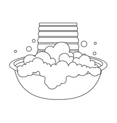 bowl for washing dry cleaning single icon in vector image