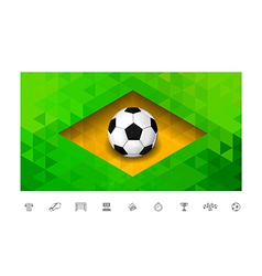 Brasil Flag Triangle vector