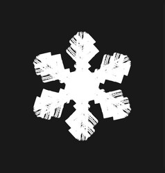 brush painted snowflake vector image