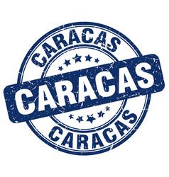 Caracas blue grunge round vintage rubber stamp vector