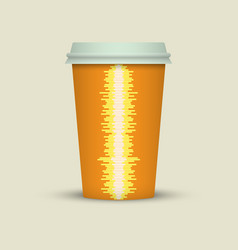 Coffee cup with music waves vector