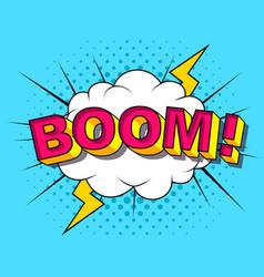 comic cartoon explosions vector image