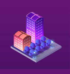 concept city vector image