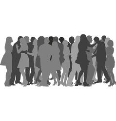Crowd dancing vector