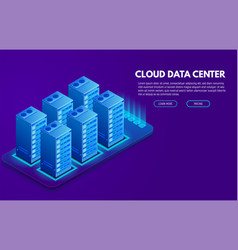 Data center banner vector