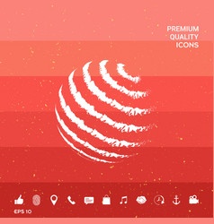 Earth logo design - textured stripes vector