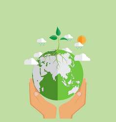 Eco friendly concept design vector