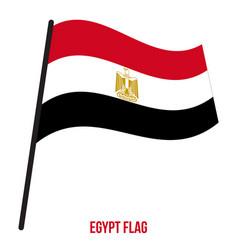 Egypt flag waving on white background egypt vector