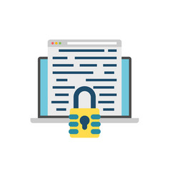 encryption icon vector image