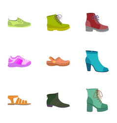 female shoes icon set flat style vector image