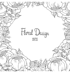 floral border vector image vector image