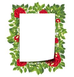 flower and leaf border vector image