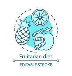 fruitarian diet vegan lifestyle concept icon vector image