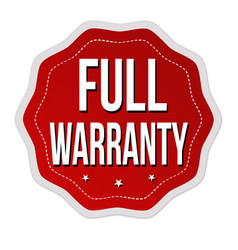 full warranty label or sticker vector image