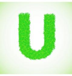 Grass letter U vector