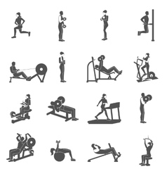 Gym Workout People Flat vector image