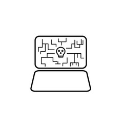 hacker virus icon on white background can be used vector image
