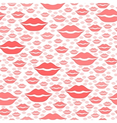 heart kiss pattern red vector image