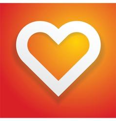 heart symbol love concept vector image