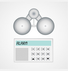 home alarm security system vector image