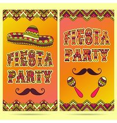 Invitation for fiesta festival vector