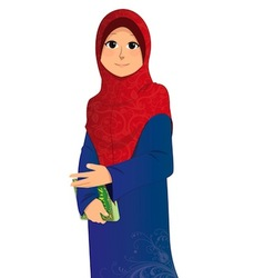 Islamic Girl vector image