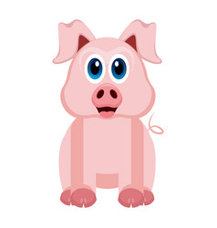 isolated cute pig vector image vector image
