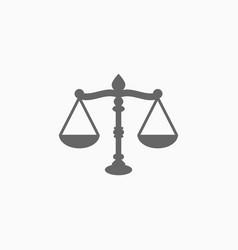 Justice scales icon vector