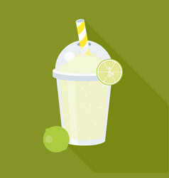 Lemonade juice and lemon vector
