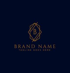 Luxury logotype premium letter b logo with golden vector