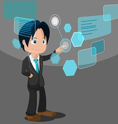 Man Development Software Business Technology vector