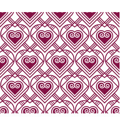 marsala color pattern with heart vector image
