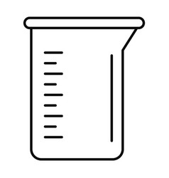 Measurement pot icon outline style vector