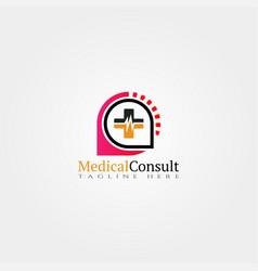 Medical icon templatecreative logo design vector