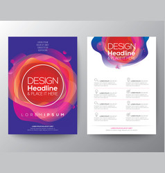 Modern abstract fluid circle shape with vivid and vector