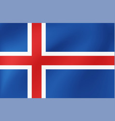 national flag iceland for sports competition vector image