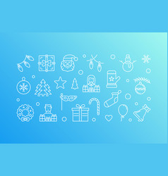 new year creative blue vector image