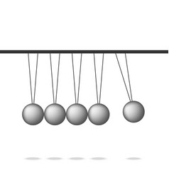 Newton cradle pendulum ball leadership work vector