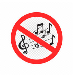 no music sound sign symbol icon vector image