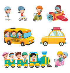 of kids transportation vector image