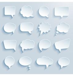 Paper communication bubbles vector