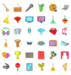 Philharmonic icons set cartoon style vector