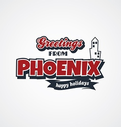Phoenix vacation greetings theme vector