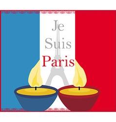 Pray for Paris vector image