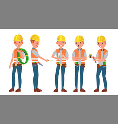 professional electrician different poses vector image