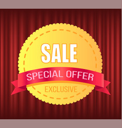 promotion ad special offer shop sticker vector image
