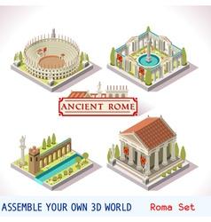 Roman 04 Tiles Isometric vector